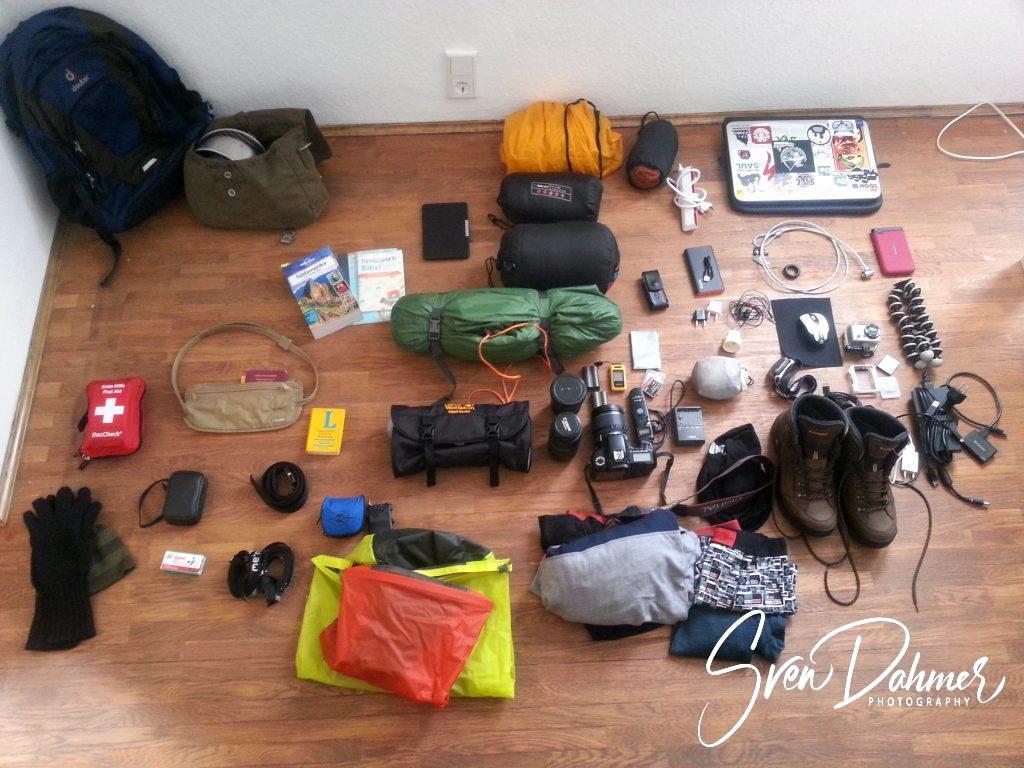Backpacking Ausrüstung Südamerika